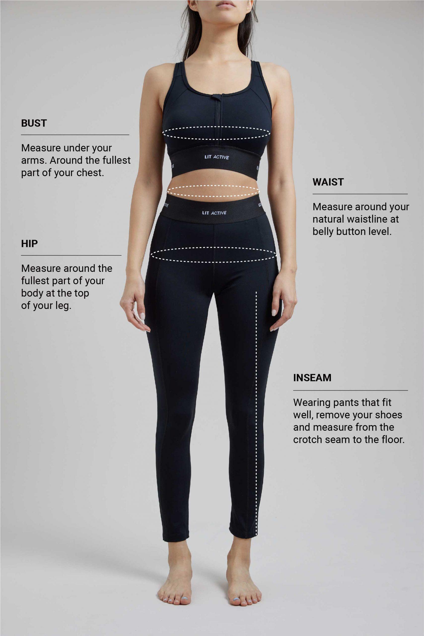 Women's Yoga Size Chart